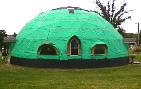 Dome in Green and Black